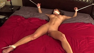 blindfolded spreadeagled gagged bondage